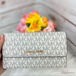 PRICE FIRM michael kors Trifold Wallet vanilla